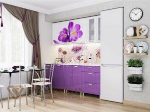 Кухонный гарнитур с фотопечатью Крокусы (1,8 м)