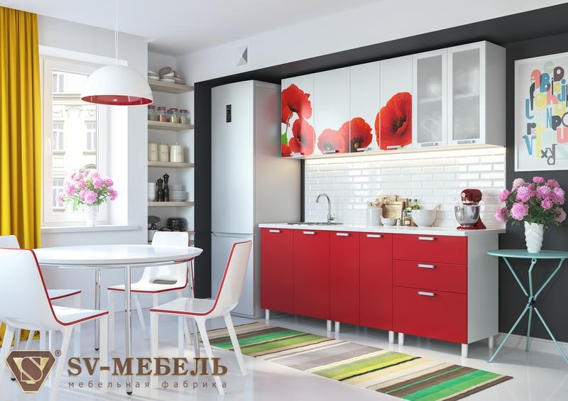 Кухонный гарнитур с фотопечатью (1,8 м)