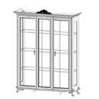 ГВ-04 Шкаф 3-дверный без короны
