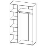СП-03 Шкаф 3-х дверный с 1-м зеркалом
