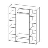 СП-04 Шкаф 4-х дверный с 2-мя зеркалами