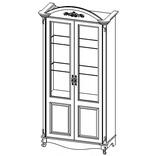 ГД-04 Шкаф 2-х дверный
