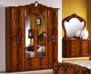Шкаф 4-х дверный с зеркалами