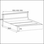 ВМ-14 Кровать (Без матраца 0,9*2,0 )