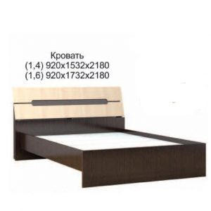 Кровать основанием ДСП 1,4