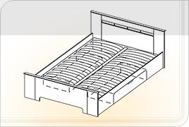кровать 1,6Х2 (с ящиками)