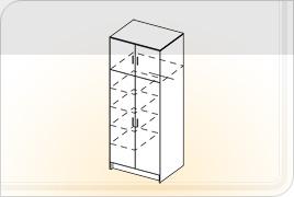 Шкаф Двустворчатый с перегородкой
