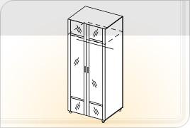 Шкаф универсальный ШУ-Z (с зеркалом)