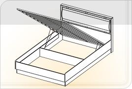Кровать КР-3 с подъемным механизмом