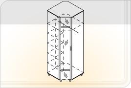 Шкаф угловой Ш-УГ-Z (с зеркалом)