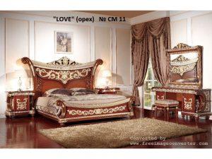 """Спальня  """"Love"""" (орех) 4дв"""