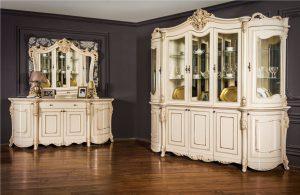 Комплект  1: Сервант 5-ти дверный, комод с зеркалом