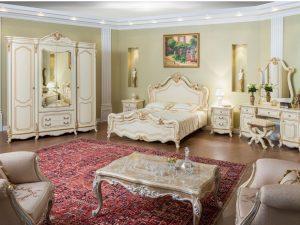 """Спальня """"МонаЛиза"""" 4-х ств. шкаф и кровать с мягким изголовьем"""