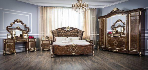 """Спальня """"Оливия"""" 5-х ств. шкаф (корень глянец)"""