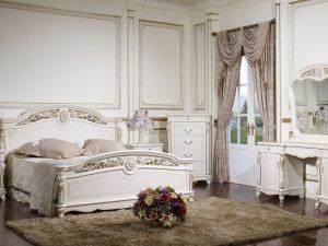 Спальня AFINA (Афина) белый с жемчугом