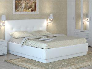 Интерьерная кожаная кровать Локарно