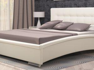 Интерьерная кожаная кровать Луиза