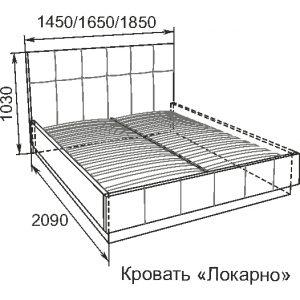 Локарно 1400*2000      (комплектуется латами)