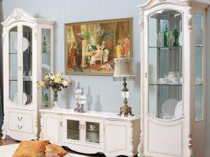 Гостиная AFINA (Афина) белый с жемчугом