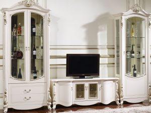 Гостиная/Столовая AFINA (Афина) белый с золотом