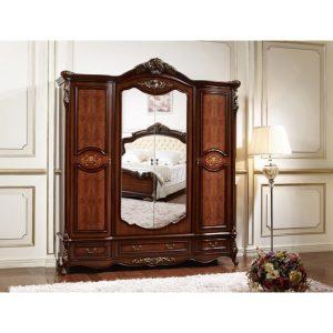 Шкаф 4-дверный с зерк-ми
