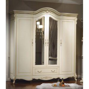 8803-B. Шкаф 4-дверный с зеркалами