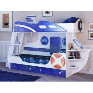 Кровать двухъярусная «Яхта-2» (без матраса) (спальное место 1900х800)мм (2800х860х1800)мм