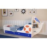Кровать одноярусная «Яхта-1» (без матраса) (спальное место 1900х800)мм  (2450х930х1125)мм