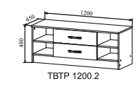 Тумба под ТВ ТВТР 1200.2