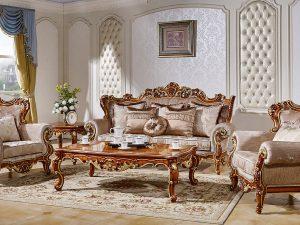 """Мягкая Мебель """"Магдалена"""" (Цвет: Слоновая Кость+Золото)"""