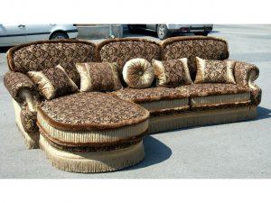 Угловой диван Николь с оттоманкой