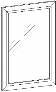 Зеркало в рамке 722*922 мм