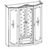 Шкаф 4-ти дв. 1898*598*2224 мм