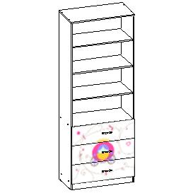 Шкаф стеллаж с ящиками 802*436*2113 мм