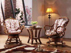 3052 Комплект (Чайный столик  + 2 кресла вращающихся)