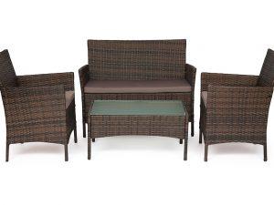 Лаундж сет (диван+2 кресла+столик+подушки) (mod. 210013 А)