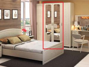 спальня Виктория  шкаф со штангой и  зеркалом