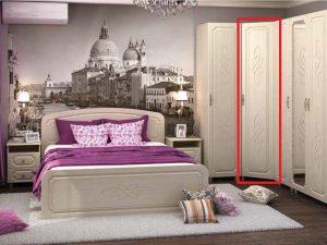 спальня Виктория  шкаф с ящиками и зеркалом