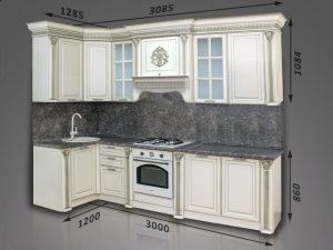 Кухонный гарнитур Валенсия угловая, 3*1,2 м