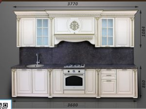 Кухонный гарнитур Валенсия прямая, 3,6 м