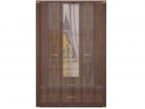 1.Шкаф для одежды с ящиками 3-х дверный с зеркалом «Париж»