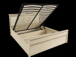 Корпус кровати 1,4 м ЛКР-1 (1,4), с подъемным механизмом, Ливорно, Дуб сонома