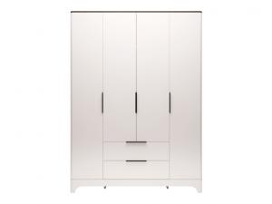 02 «Танго» Шкаф для одежды 4-х дверный с ящиком без зеркал