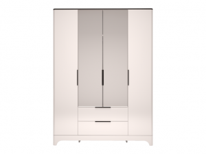 02 «Танго» Шкаф для одежды 4-х дверный с ящиком с зеркалом