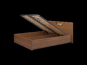 5 Кровать двойная 1600 (К-2) с подъемным механизмом и ящиком для белья, без матраса «Лондон»