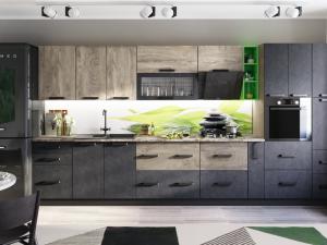 Кухня Крафт, комплект 1, бетон/дуб эндгрейн