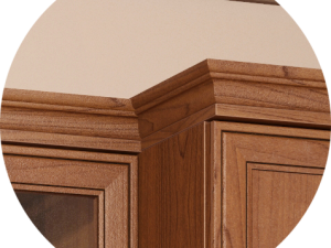 «Венеция» Клен Торонто 36. Комплект декор. элементов (карниз к модулям разной глубины, ЛЕВЫЙ) КОМП-2