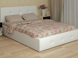 «Линда» Кровать интерьерная 140*200 см + ортопед 140 ножка 185 мм-5 шт