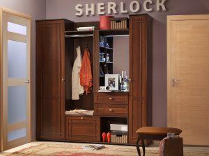 Прихожая «Sherlock» (Шерлок), Орех шоколадный. Компоновка 2