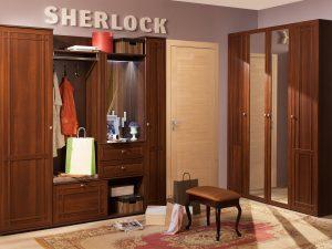 Прихожая «Sherlock» (Шерлок), Орех шоколадный. Компоновка 1